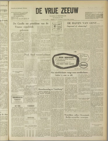 de Vrije Zeeuw 1958-12-22