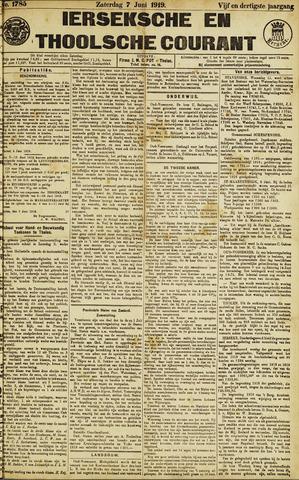 Ierseksche en Thoolsche Courant 1919-06-07