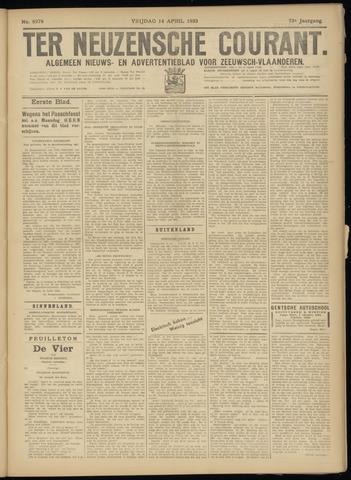 Ter Neuzensche Courant. Algemeen Nieuws- en Advertentieblad voor Zeeuwsch-Vlaanderen / Neuzensche Courant ... (idem) / (Algemeen) nieuws en advertentieblad voor Zeeuwsch-Vlaanderen 1933-04-14