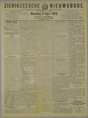 Zierikzeesche Nieuwsbode 1914-04-06