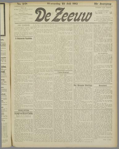 De Zeeuw. Christelijk-historisch nieuwsblad voor Zeeland 1917-07-25