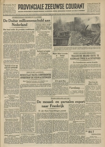 Provinciale Zeeuwse Courant 1952-02-29