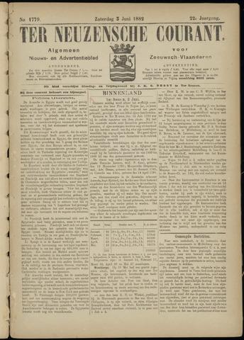 Ter Neuzensche Courant. Algemeen Nieuws- en Advertentieblad voor Zeeuwsch-Vlaanderen / Neuzensche Courant ... (idem) / (Algemeen) nieuws en advertentieblad voor Zeeuwsch-Vlaanderen 1882-06-03