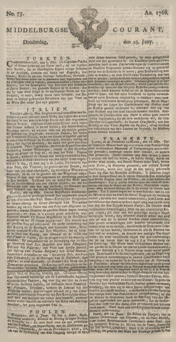 Middelburgsche Courant 1768-06-23