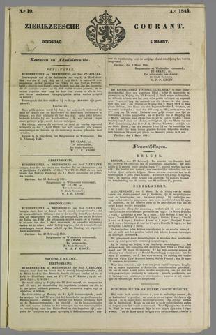 Zierikzeesche Courant 1844-03-05