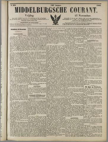 Middelburgsche Courant 1903-11-27