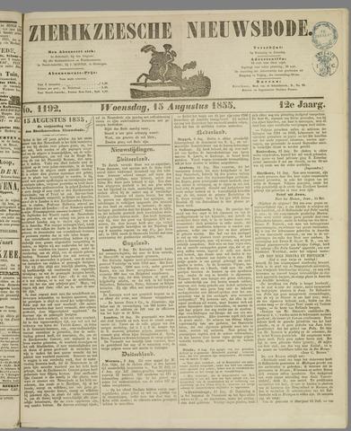 Zierikzeesche Nieuwsbode 1855-08-15