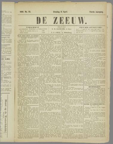 De Zeeuw. Christelijk-historisch nieuwsblad voor Zeeland 1890-04-15