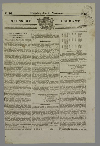 Goessche Courant 1842-11-21