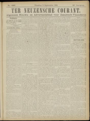 Ter Neuzensche Courant. Algemeen Nieuws- en Advertentieblad voor Zeeuwsch-Vlaanderen / Neuzensche Courant ... (idem) / (Algemeen) nieuws en advertentieblad voor Zeeuwsch-Vlaanderen 1919-09-09