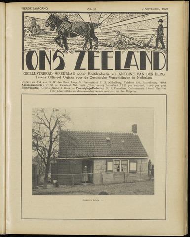 Ons Zeeland / Zeeuwsche editie 1929-11-02
