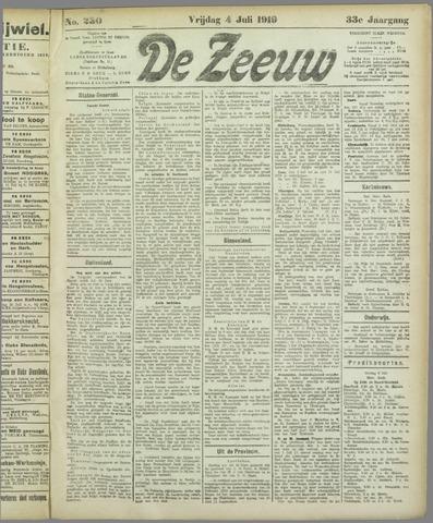 De Zeeuw. Christelijk-historisch nieuwsblad voor Zeeland 1919-07-04