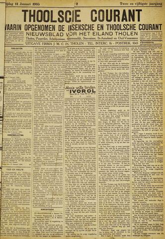 Ierseksche en Thoolsche Courant 1935-01-11