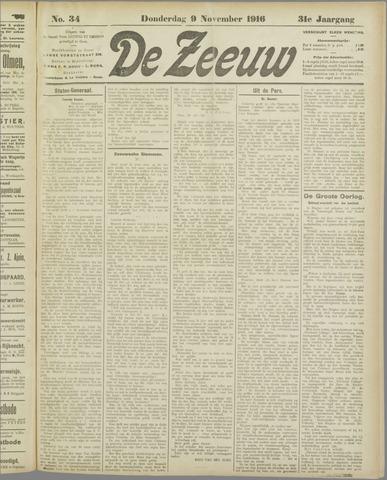 De Zeeuw. Christelijk-historisch nieuwsblad voor Zeeland 1916-11-09