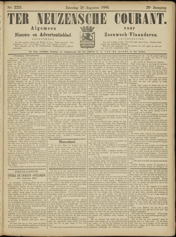 Ter Neuzensche Courant. Algemeen Nieuws- en Advertentieblad voor Zeeuwsch-Vlaanderen / Neuzensche Courant ... (idem) / (Algemeen) nieuws en advertentieblad voor Zeeuwsch-Vlaanderen 1886-08-28