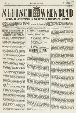 Sluisch Weekblad. Nieuws- en advertentieblad voor Westelijk Zeeuwsch-Vlaanderen 1866-10-12