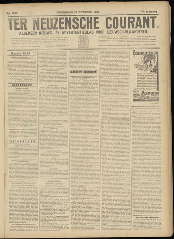 Ter Neuzensche Courant. Algemeen Nieuws- en Advertentieblad voor Zeeuwsch-Vlaanderen / Neuzensche Courant ... (idem) / (Algemeen) nieuws en advertentieblad voor Zeeuwsch-Vlaanderen 1930-10-22