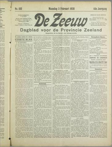 De Zeeuw. Christelijk-historisch nieuwsblad voor Zeeland 1930-02-03