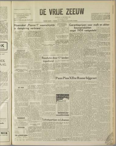 de Vrije Zeeuw 1958-10-14