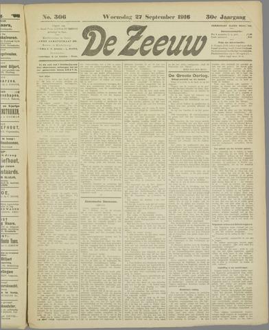 De Zeeuw. Christelijk-historisch nieuwsblad voor Zeeland 1916-09-27