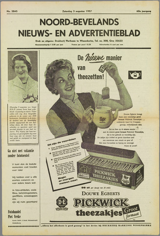 Noord-Bevelands Nieuws- en advertentieblad 1957-08-03