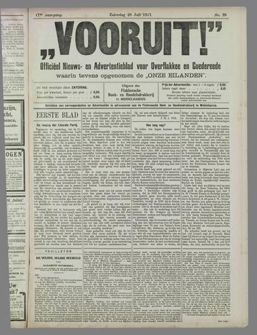 """""""Vooruit!""""Officieel Nieuws- en Advertentieblad voor Overflakkee en Goedereede 1917-07-28"""