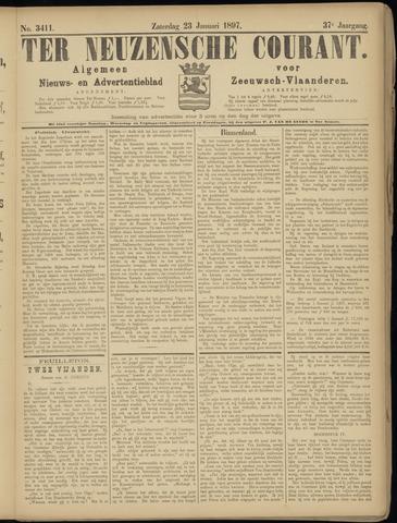 Ter Neuzensche Courant. Algemeen Nieuws- en Advertentieblad voor Zeeuwsch-Vlaanderen / Neuzensche Courant ... (idem) / (Algemeen) nieuws en advertentieblad voor Zeeuwsch-Vlaanderen 1897-01-23