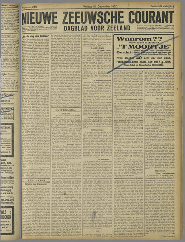 Nieuwe Zeeuwsche Courant 1920-12-10