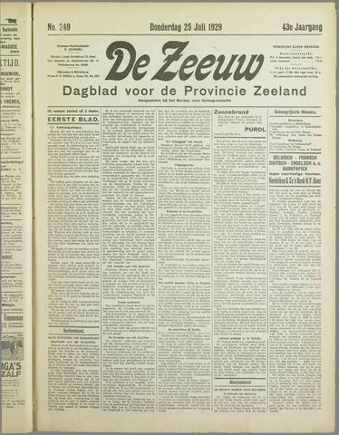 De Zeeuw. Christelijk-historisch nieuwsblad voor Zeeland 1929-07-25