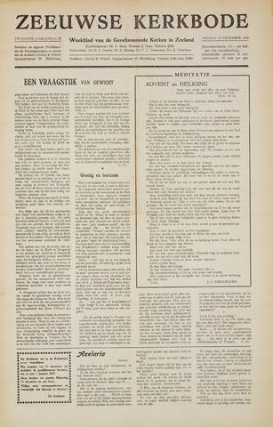 Zeeuwsche kerkbode, weekblad gewijd aan de belangen der gereformeerde kerken/ Zeeuwsch kerkblad 1956-12-14