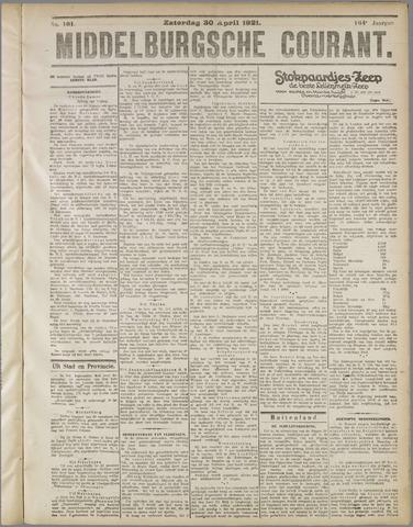 Middelburgsche Courant 1921-04-30