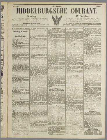 Middelburgsche Courant 1905-10-17