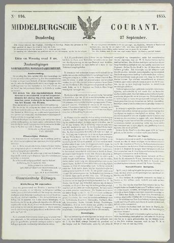 Middelburgsche Courant 1855-09-27
