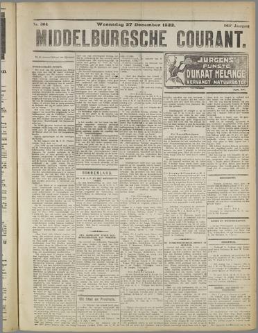 Middelburgsche Courant 1922-12-27