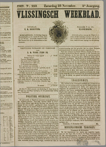 Vlissings Weekblad 1867-11-23