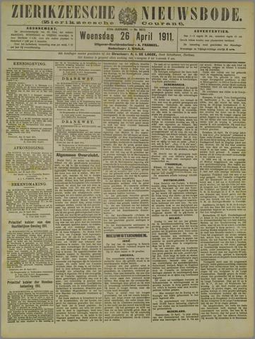 Zierikzeesche Nieuwsbode 1911-04-26