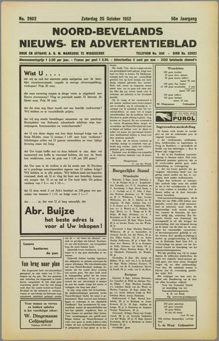 Noord-Bevelands Nieuws- en advertentieblad 1952-10-25