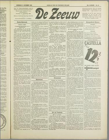 De Zeeuw. Christelijk-historisch nieuwsblad voor Zeeland 1934-11-14
