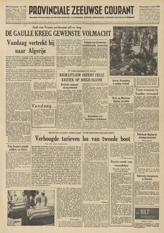 Provinciale Zeeuwse Courant 1958-06-04