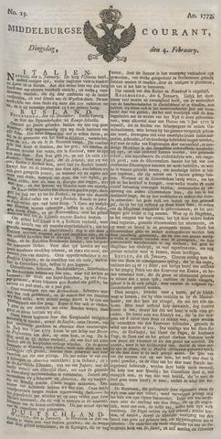 Middelburgsche Courant 1777-02-04