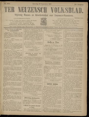 Ter Neuzensch Volksblad. Vrijzinnig nieuws- en advertentieblad voor Zeeuwsch- Vlaanderen / Zeeuwsch Nieuwsblad. Nieuws- en advertentieblad voor Zeeland 1917-09-29