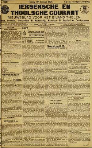 Ierseksche en Thoolsche Courant 1928-01-27