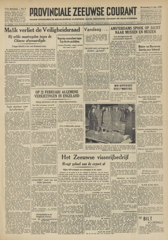 Provinciale Zeeuwse Courant 1950-01-11