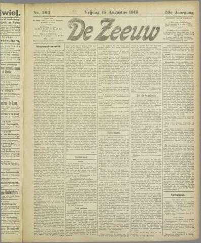 De Zeeuw. Christelijk-historisch nieuwsblad voor Zeeland 1919-08-15