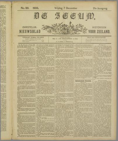 De Zeeuw. Christelijk-historisch nieuwsblad voor Zeeland 1906-12-07