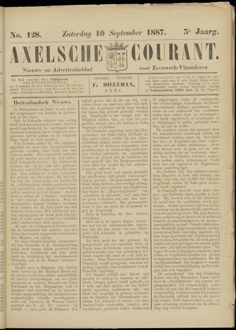 Axelsche Courant 1887-09-10