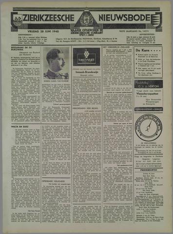 Zierikzeesche Nieuwsbode 1940-06-28