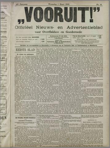 """""""Vooruit!""""Officieel Nieuws- en Advertentieblad voor Overflakkee en Goedereede 1916-03-01"""