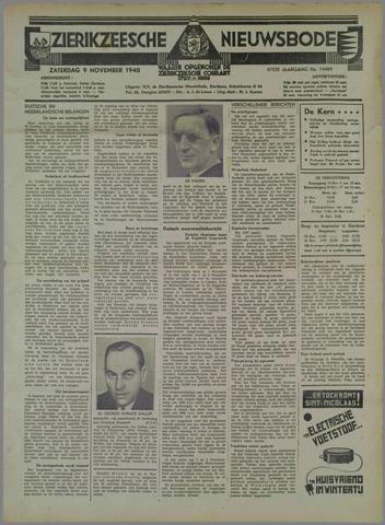 Zierikzeesche Nieuwsbode 1940-11-09