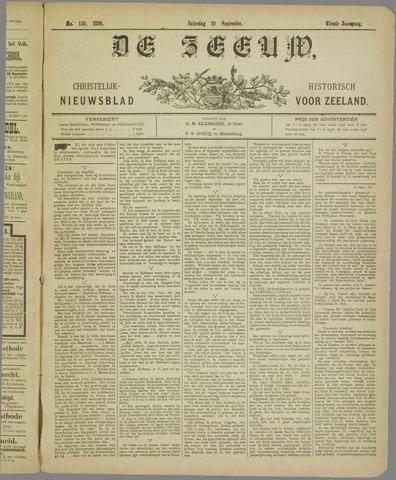 De Zeeuw. Christelijk-historisch nieuwsblad voor Zeeland 1896-09-19
